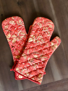 Coral Oven Gloves (Set of 2)