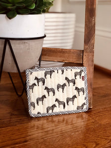 Zebra Print Coin Purse