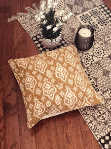 Yellow Ikkat Cushion