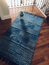 Load image into Gallery viewer, Indigo Square Tiled Rug (3'X5')