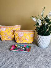 Load image into Gallery viewer, Yellow Gardenia Cosmetic Bag