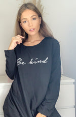 Load image into Gallery viewer, Be Kind Oversized Sweatshirt In Black