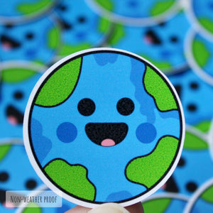 Smiling Earth Sticker