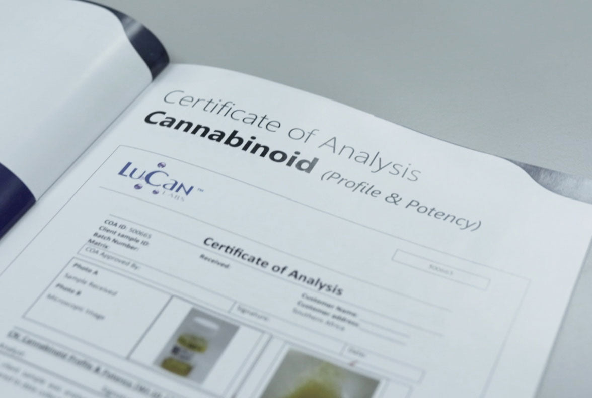 certificate of analysis cannabinoid apex health