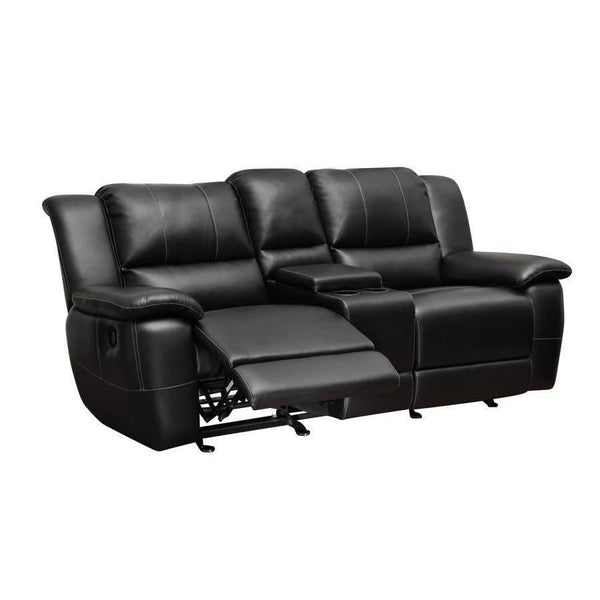 GLIDER LOVESEAT W/ CONSOLE-Jennifer Furniture