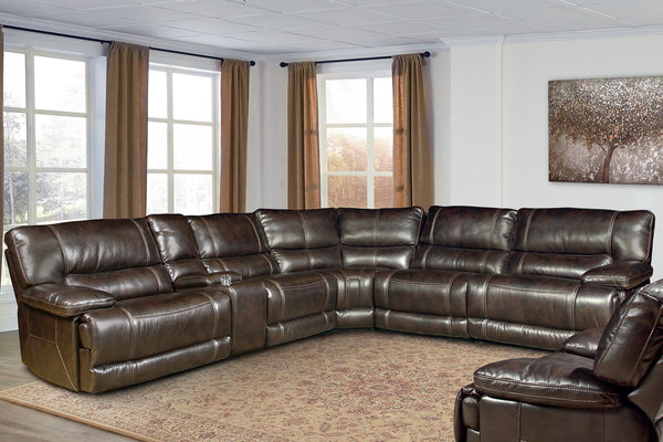 PEGASUS NUTMEG 6-PIECE SECTIONAL - PACKAGE AH - MPEG-PACKA(H)-NU - PARKER HOUSE