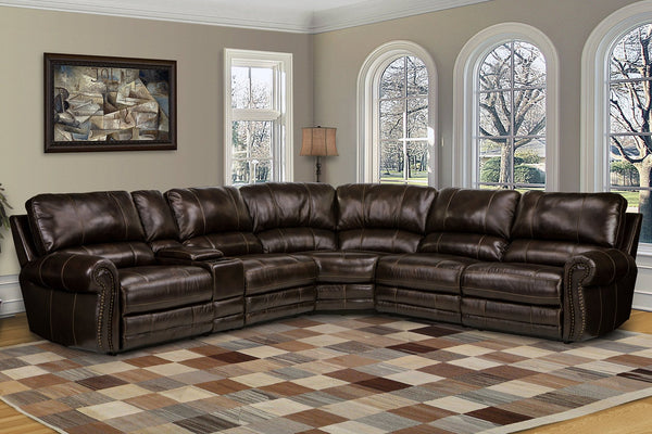 THURSTON 6-PIECE SECTIONAL IN HAVANA COLOR - Parker House