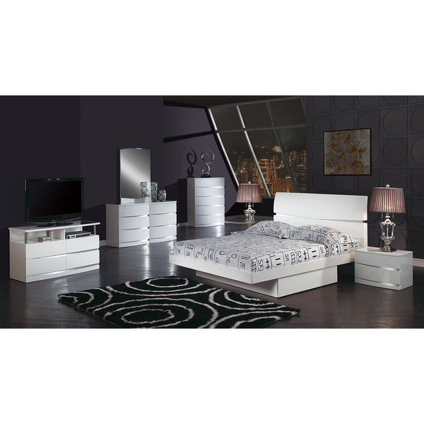 Modern Contemporary White platform bed sets