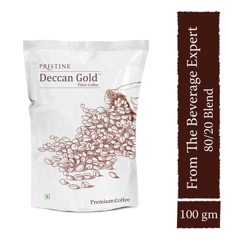 PRISTINE Deccan Gold  Premium Filter Coffee, 80:20 Blend, 100 g  Pack of 2  Buy 1 Get 50 g Free