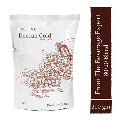 PRISTINE Deccan Gold  Premium Filter Coffee, 80:20 Blend,200 g  Buy 1 Get 100 g Free