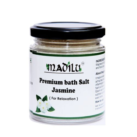 Premium Epsom bath  Salt  jasmine   For Relaxation & Pain Relief 185 g