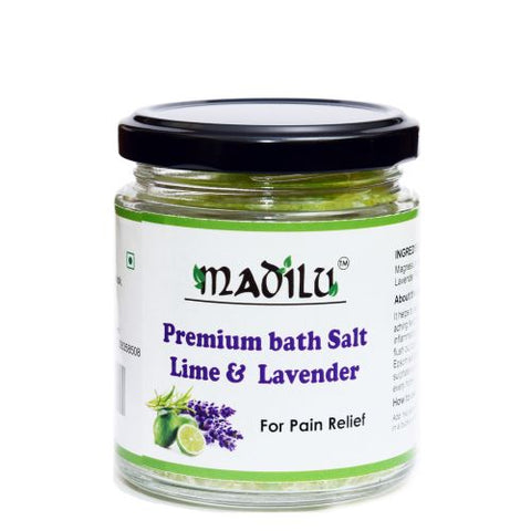 Premium Epsom bath  Salt  lavender  For Relaxation & Pain Relief 185 g