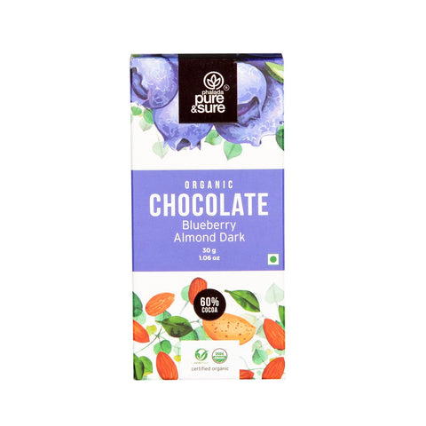 Chocolate Bar, Blueberry Almond  30 g