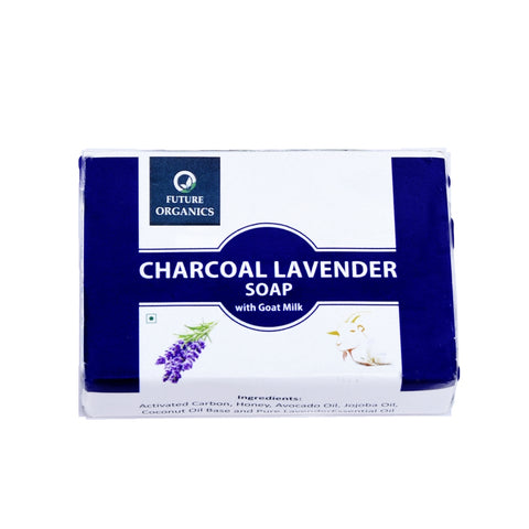 Charcoal Lavender with Goat Milk 200 gm (Pack of 2, 100 Gram Each)