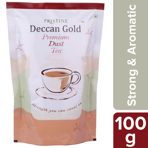 PRISTINE Deccan Gold Premium Dust Tea 100 g Pack of 5