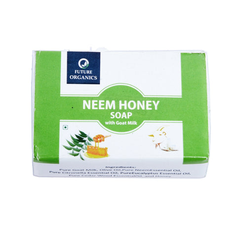 Neem Honey with Goat milk Bathing Soap 200 gm (Pack of 2, 100 Gram Each)