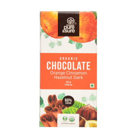 Chocolate Bar  Orange, Cinnamon, Hazelnut Dark 30 g