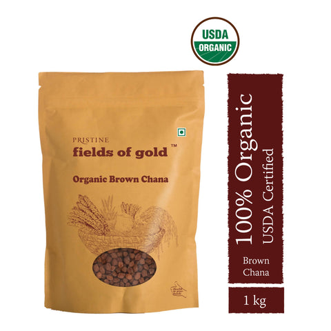 PRISTINE Fields of Gold Organic Brown Channa ,1 kg