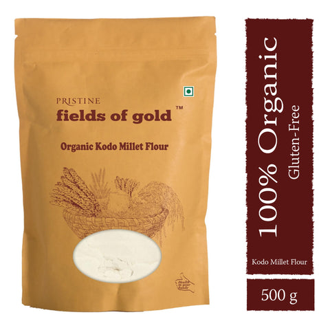 PRISTINE Fields of Gold Organic Kodo Millet Flour , 500 g Pack of 2