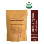 PRISTINE Fields of Gold Organic Moong Dal Green gram split  ,1 kg