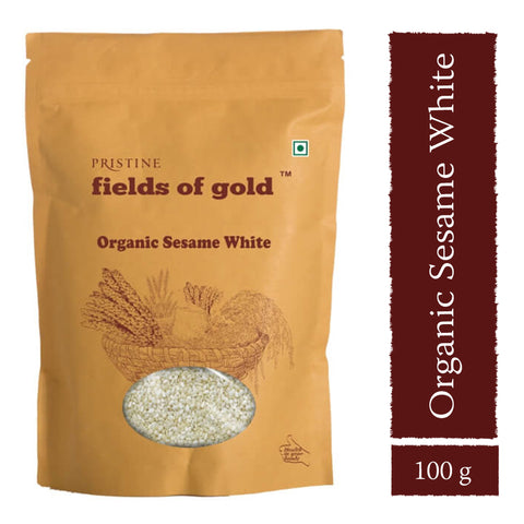 PRISTINE Fields of Gold Organic Sesame White ,100 g Pack of 3