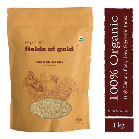 PRISTINE Fields of Gold Organic Multi Millet Mix 1 kg Pack of 2