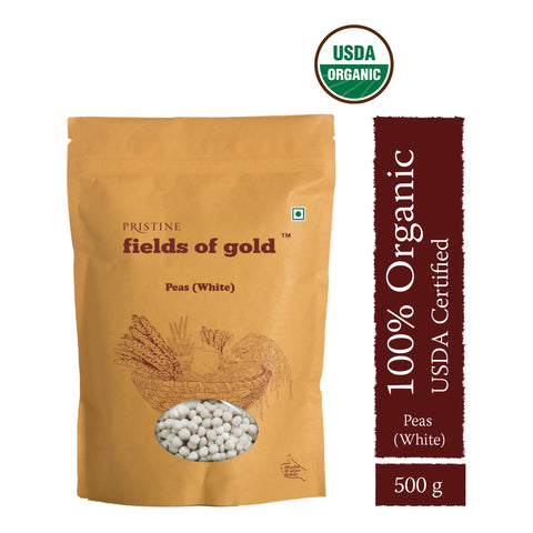 PRISTINE Fields of Gold Organic  Peas White , 500 g Pack of 3