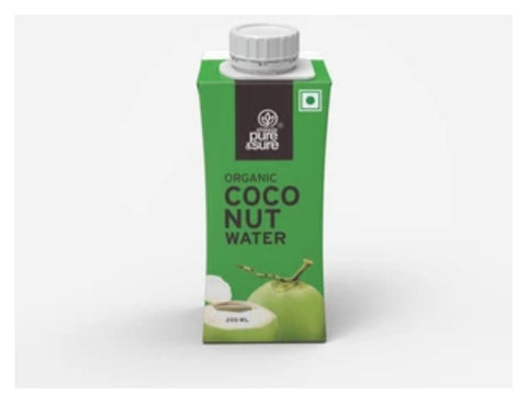Organic Coconut Water  Plain 200  ml
