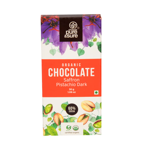 Chocolate Bar  Saffron Pistachio Dark 30 g
