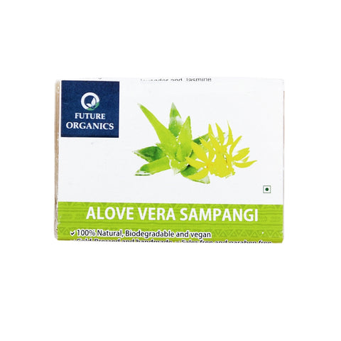 Aloe Vera & Sampangi Bathing Soap 150 gm (Pack of 2, 75 Gram Each)