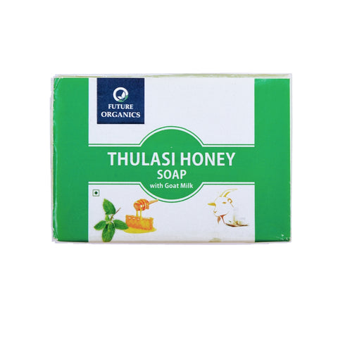 Thulsi Honey with Goat milk Bathing Soap 200 gm (Pack of 2, 100 Gram Each)
