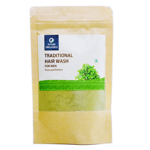 Traditional Hair Wash Powder for Men 200 Grams (Pack of 2, 100 Gram Each)