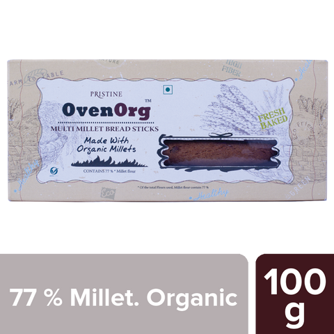 PRISTINE OvenOrg Multi Millet Bread Stick, 100 g Pack of 2
