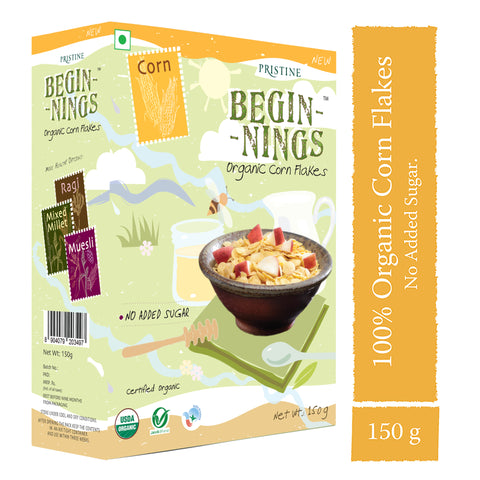 Pristine Beginnings  Organic Corn Flakes, 150 g