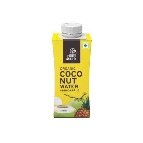 Organic Coconut Water  Pineapple 200  ml