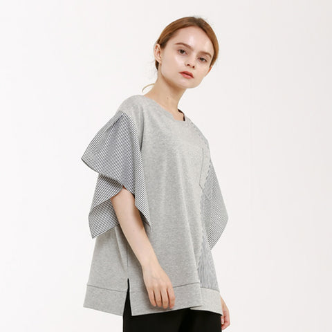 stripe-color handkerchief rchiff t-shirt - MAKE