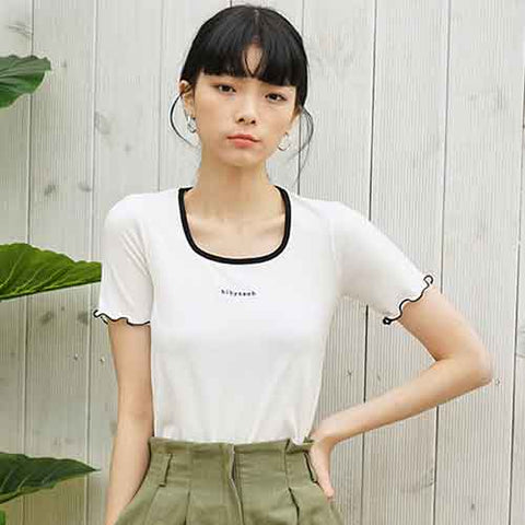 to2-frill t white - MAKE