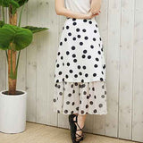to2-dot shirring skirt white - MAKE