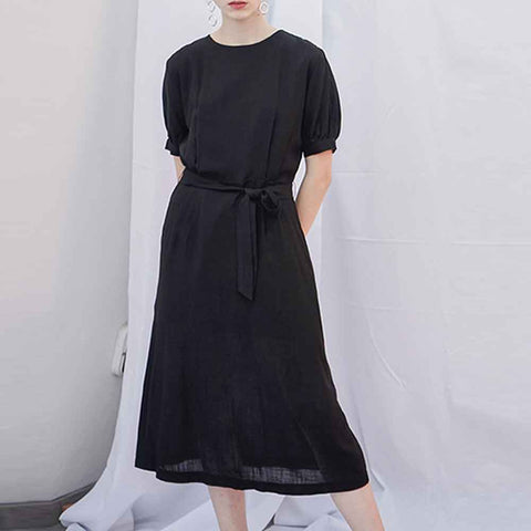 puff long one-piece black - MAKE