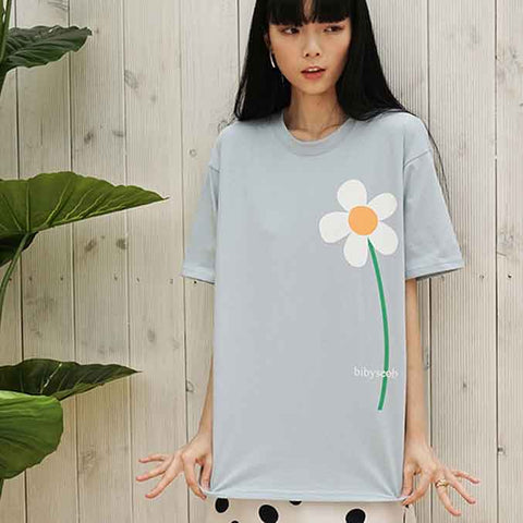 to2-flower t skyblue - MAKE