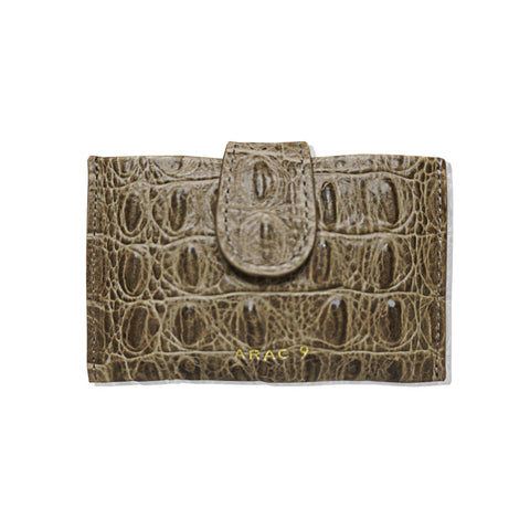 3rd tier accordion card wallet_crocodile beige - MAKE