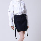 denim string mini skirt - MAKE