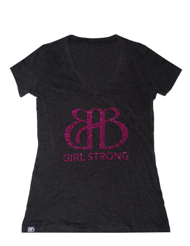 BAB V Neck Tee Gray & Pink