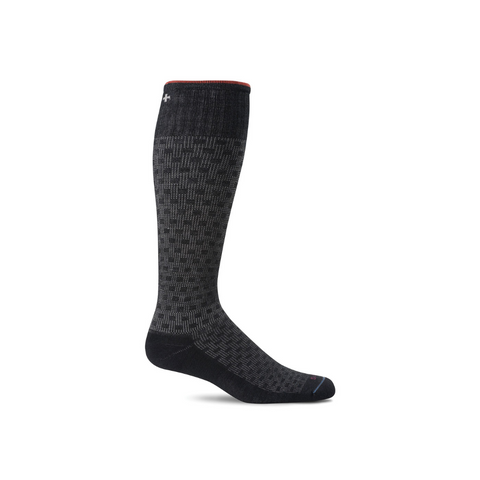 Men's Black Shadow Box Compression Socks