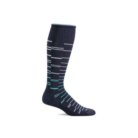 Men's Navy Dashing Compression Socks