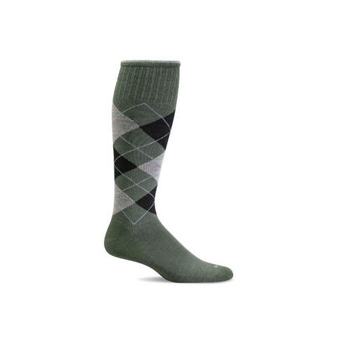 Men's Eucalyptus Argyle Compression Socks