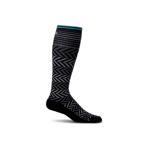 Women's Black Chevron Compressions Socks