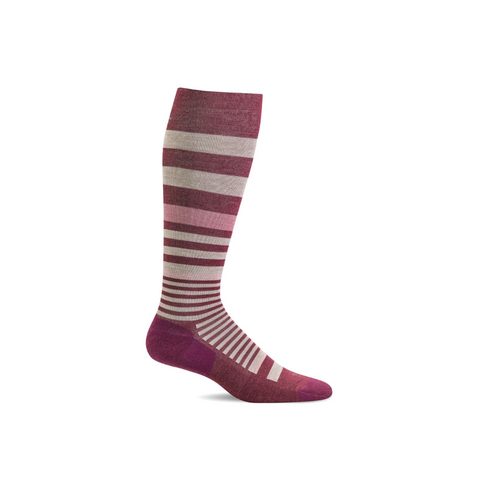Women's Mulberry Orbital Compression Socks