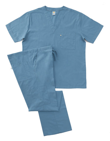 Blue Grey Scrub Set