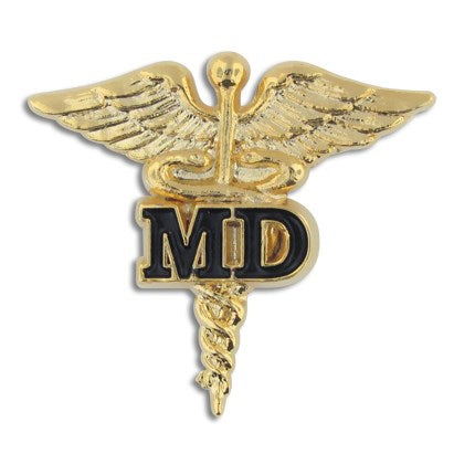 Caduceus MD Lapel Pin